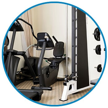 Cardio and Weights available for guests to use