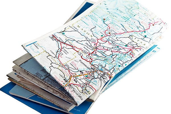 Maps for a road trip