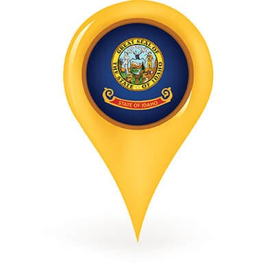 idaho map pin