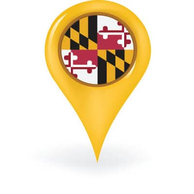 Maryland Map Pin
