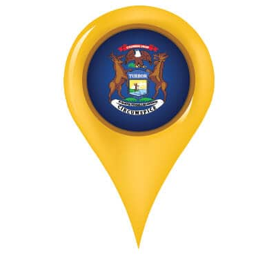 michigan map pin